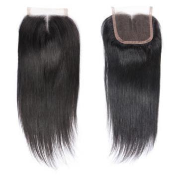 "4""x4"" Peruvian 8A Virgin Remy Human Hair Unprocessed Silk Straight Lace Closure"