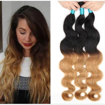 2 Bundle /100g Peruvian Virgin Body Wave Ombre Human Hair Extensions Weave Weft