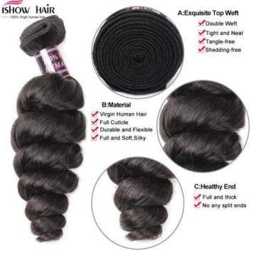 7A Peruvian Virgin Hair Loose Wave Hair Style  Peruvian 4 Bundles /200G Hair