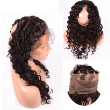 Peruvian Virgin Human Hair 360 Lace Frontal Closure Deep Wave Full Lace Closures