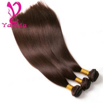 7A Peruvian Virgin Straight Human Hair Weave Weft 3 Bundles #4 total 300g