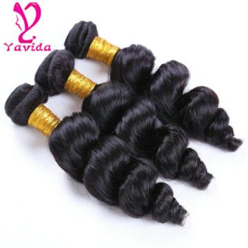 300g/3Bundle 7A Grade Loose Wave Peruvian Virgin Human Hair Extension Weave Weft