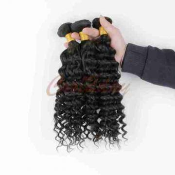 2 Bundle Peruvian Virgin Real Deep Wave Hair 100% Human Hair Extensions Weave