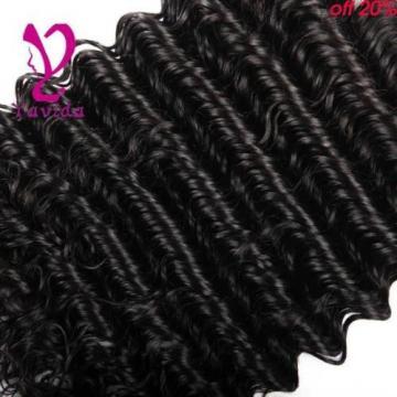 7A Virgin Peruvian Deep Wave Curly Wavy Human Hair Extensions 3 Bundles/300g