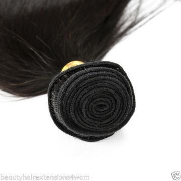 8A Peruvian Remy Hair Long Staight Human Hair Weft Weave Virgin Hair Bundle 100G