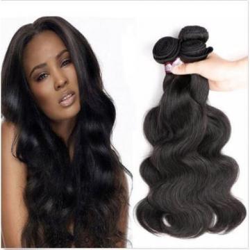 Peruvian Virgin Human Hair Extensions Weave Weft Body Wave 3 Bundles 150g