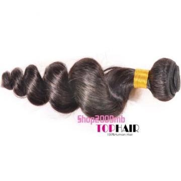 Virgin Loose Wave Human Hair 3 Bundles/150g Peruvian Remy Hair Extension Weft