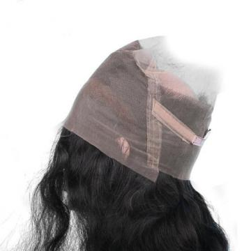 100% Peruvian Virgin Human Hair 360 Lace Frontal Closures Wavy Lace Band Frontal
