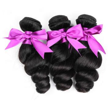 Loose wave 100% Virgin Hair 3 Bundles Peruvian Remy Human hair extensions Weave