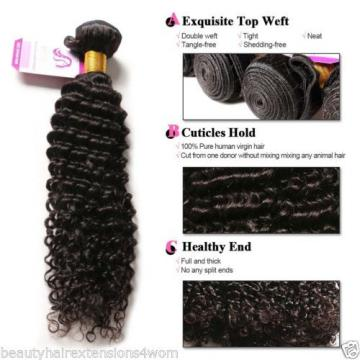 8A Peruvian Remy Hair Deep Wave Human Hair Weft Curly Virgin Hair Bundle 100G