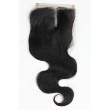 "PERUVIAN VIRGIN REMY HUMAN HAIR 4X4 LACE CLOSURE BLACK BODY WEAVE WAFT 10""-22"""