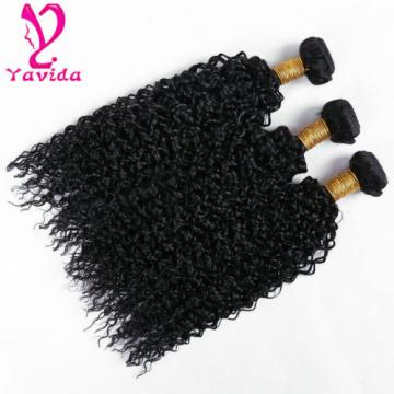 THICK 7A 300g Kinky Curly 3 Bundles Peruvian Virgin Human Hair Weave Weft