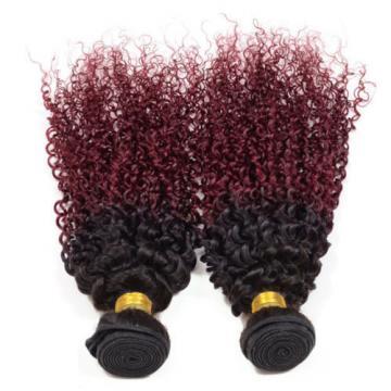 Unprocessed Brazilian Ombre Color Kinky Curl Peruvian Indian Virgin Human Hair