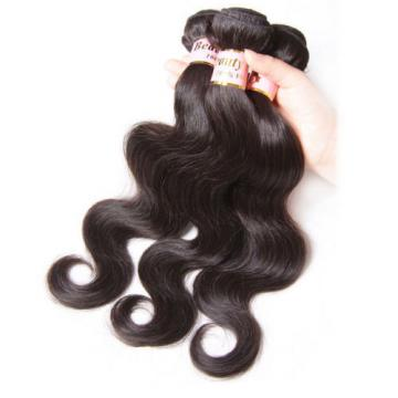 150g/3 Bundles Peruvian Body Wave Virgin Human Hair Weave Extensions Black