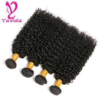 400g 100% Virgin Peruvian Kinky Curly Hair Weave Human Hair Extension 4 Bundles