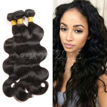 3 Bundles 7A Virgin Human Hair Extensions Weave EP Brazilian Peruvian