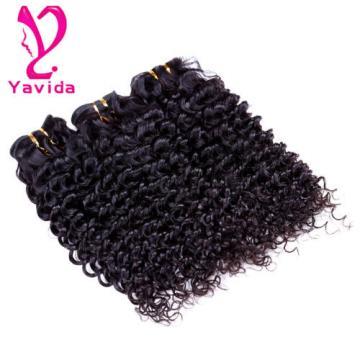7A Virgin Peruvian Human Hair Extensions Weave 3 Bundles Deep Wave Curly Hair