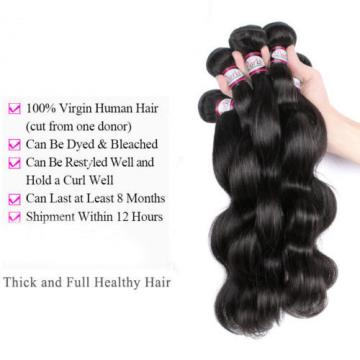 360 Lace Frontal Closure With 4 Bundles Peruvian Virgin Human Hair Body Wave