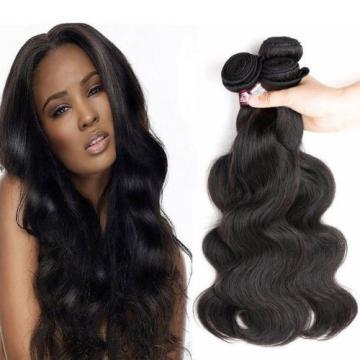 8A Peruvian Virgin Human Hair Extensions Weave Weft Body Wave 3 Bundles 150g