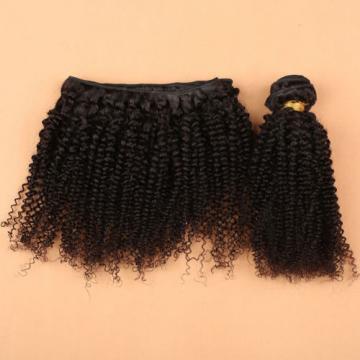 7A Peruvian Kinky Curly hair 3 Bundles with Lace Closure 100% Human Virgin Hair