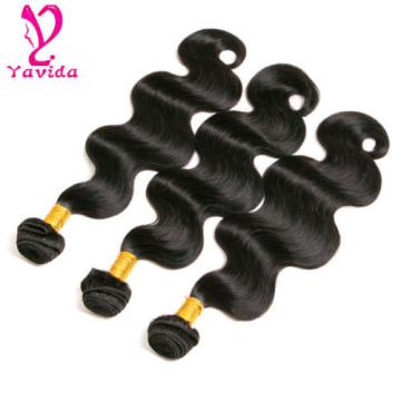 7A 3 Bundles/300g Body Wave Virgin Peruvian Hair Extensions Human Hair Weft