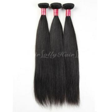 3Bundles 100% Unprocessed Virgin Indian Straight Hair Extension Human Weave Weft