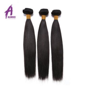 Straight Peruvian Virgin Remy Hair Human Hair Extensions Weave 3 Bundles 300g