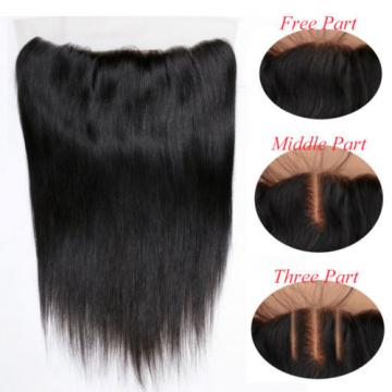 13*4 Lace Frontal Closure with 3 Bundles Peruvian Virgin Human Hair Straight
