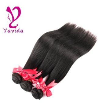 7A 100% Virgin Human Hair Weave Extensions 3 Bundles Peruvian Straight Hair 300G