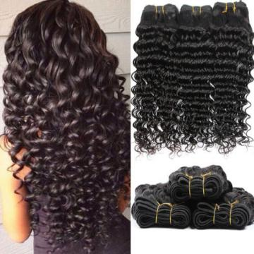 Deep Wave 7A Peruvian Virgin Human Hair Weft Weave Extension Natural Color 95g