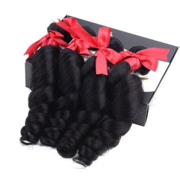 Loose wave 3 Bundles Virgin Hair Peruvian Remy Human hair extensions Weave Hair
