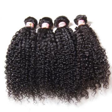 Unprocessed Peruvian 7A Kinky Curly Virgin Hair Human Hair Extensions 200g/4PCS