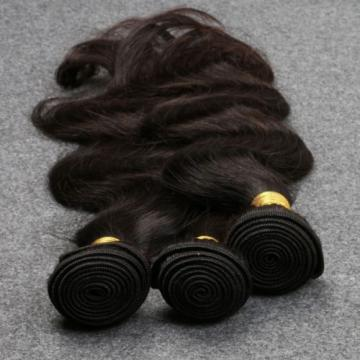 7A Peruvian Virgin Human Hair Body Wave 3 Bundles with 4*4 Silk Base Closure