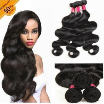 Grade 8A 100% Peruvian Virgin Remy Hair 3 Bundles Body Wave Human Hair Extenions