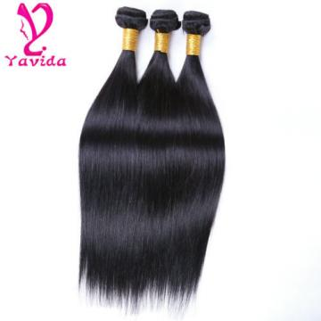 100% Virgin Straight Peruvian Hair Extensions Real Human Weave 3 Bundles