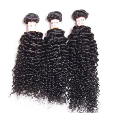 3PCS/300g Unprocessed Peruvian 7A Curly Virgin Hair Human Hair Extensions