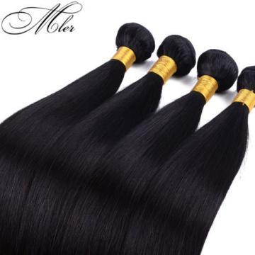 Unprocessed Virgin Peruvian Straight Silky 4 Bundles/200g Human Hair Extension p