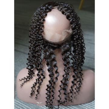 Peruvian Virgin Human Hair 360 Lace Frontal Closure Curly Full Lace Closure 1b#
