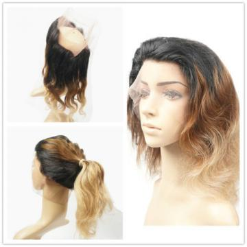 Peruvian Virgin Human Hair 360 Lace Frontal Closure Ombre Blonde Lace Closure