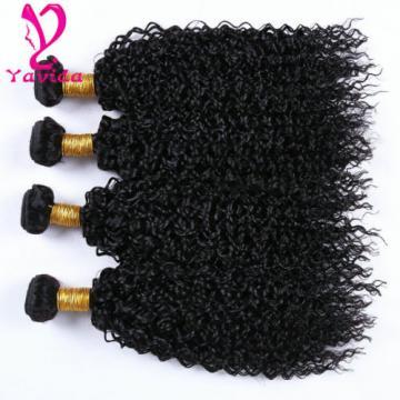 Cheap 7A 400g Kinky Curly 4Bundle Peruvian Virgin Human Hair Extension Weft