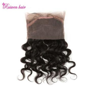 Newest 360 Lace Band Frontal Closure Body Wave Peruvian Virgin Remy Human Hair