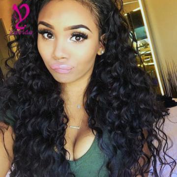400g 4Bundles Deep Wave Wavy Peruvian Virgin Hair Human Hair Extensions Weave