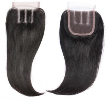 7A Virgin Peruvian 4 Bundles Straight Human Hair Weave+1pcs Lace Closure Hair