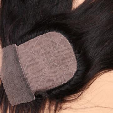 Peruvian Straight Virgin Hair With Silk Base Closure With Baby Hair 4 Bundles