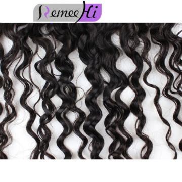 "Peruvian Deep curly  Virgin Human Hair 13""x2'lace frontal closure Bleach knots"