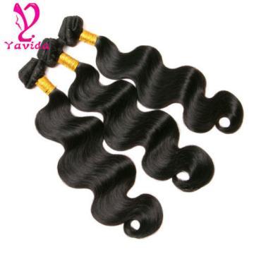 3 Bundles 300g Body Wave 7A Virgin Peruvian Human Hair Weft Hair Extensions