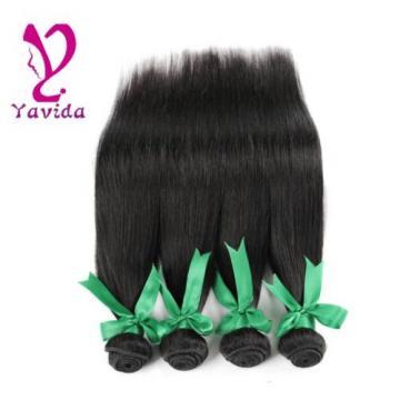 7A Peruvian Virgin Straight Hair Extensions 100% Human Hair Weave 4 Bundles 400g