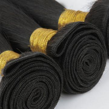 "3 Bundles 20"" Virgin Peruvian 100% Human Hair Weave Extensions Straight Wefts"