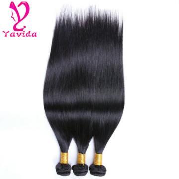 Virgin Peruvian Straight Human Hair Weave 3 Bundles 7A Unprocessed Hair Weft