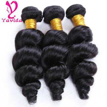 7A Virgin Loose Wave Hair Extensions Weft  Peruvian Human Hair Weave 3 Bundles